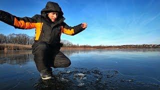 Первый лёд. Зимняя рыбалка 2019-2020 г Ловля на балансир и мормышку.