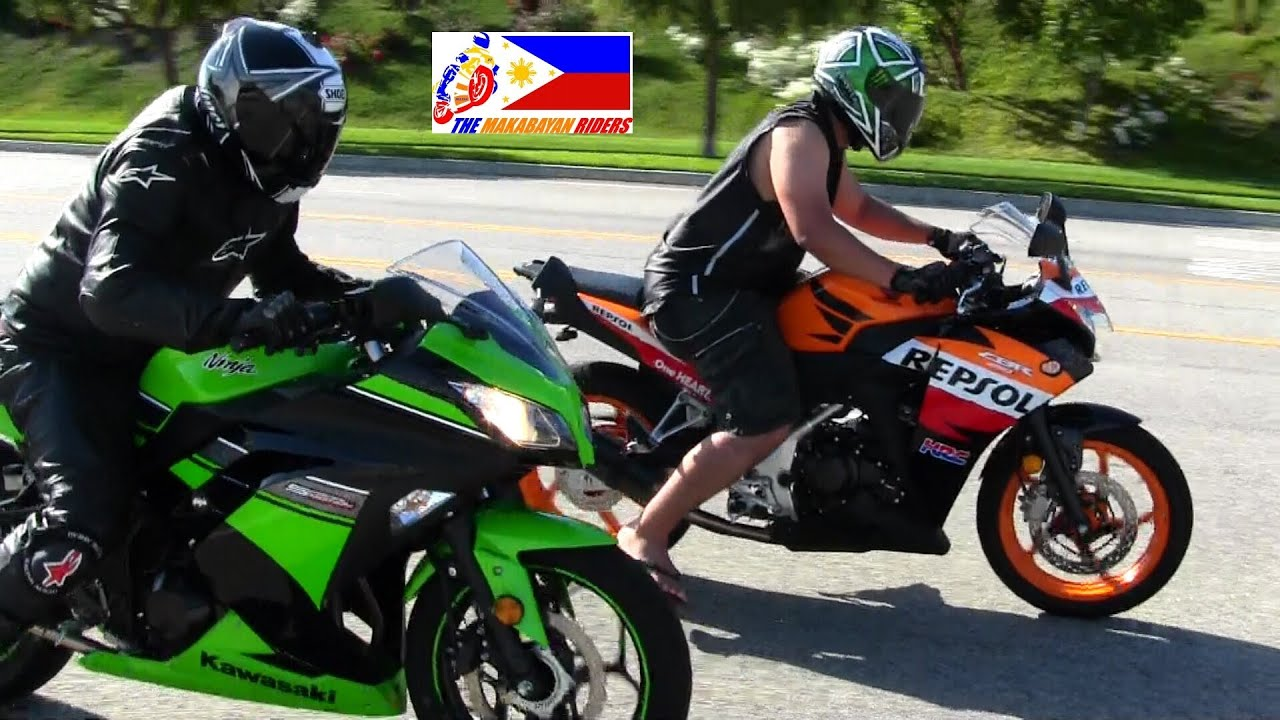 Kawasaki Ninja 300 Versus Honda Cbr 250r Drag Race Youtube
