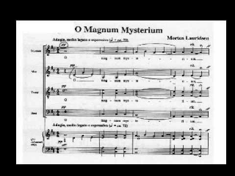 O magnum mysterium lauridsen pdf