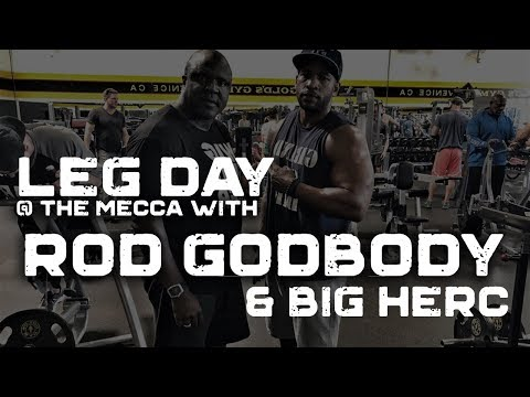 """Leg Day at Gold's Gym """"The Mecca"""" Venice, CA. with Big Herc"""
