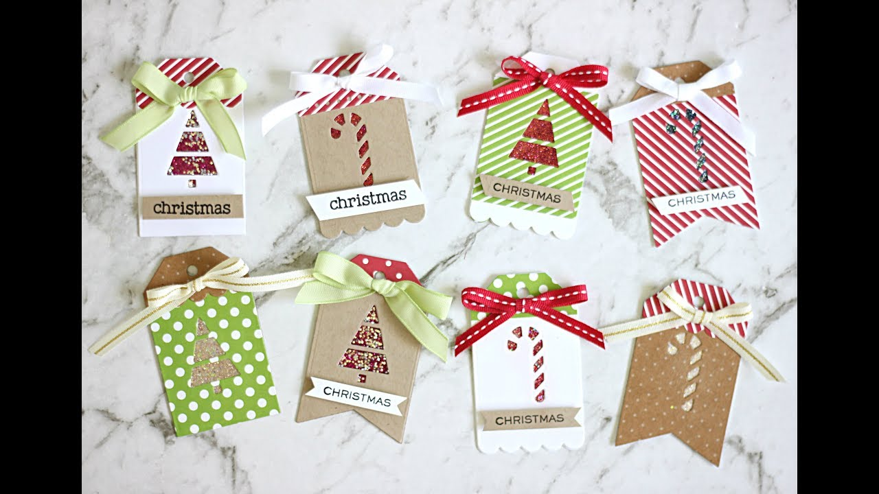 WOW Embossing : Sparkle Christmas Gift Tags - YouTube