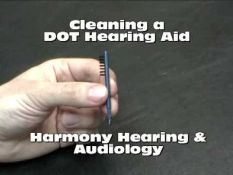 Cleaning a DOT Hearing Aid - Harmony Hearing