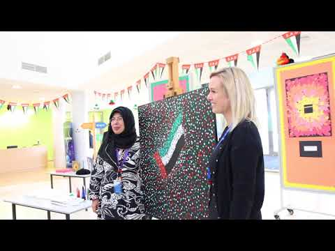EISJ welcomed award winning British Contempary Artist Siddiqa Juma to our school for the day!