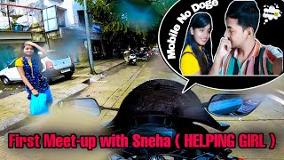 First meet with helping girl Sneha | Girl who lost her purse | helping girl in lockdown | DJ Prince