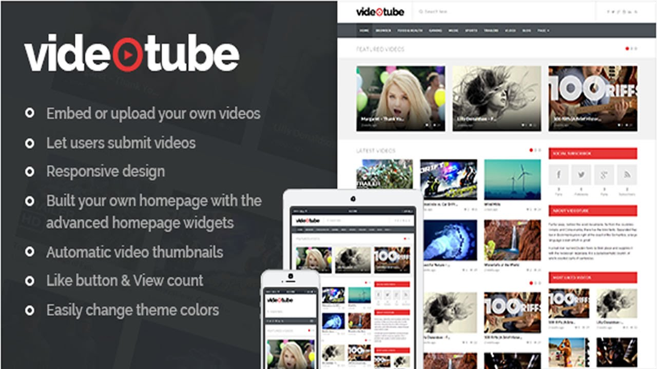 VideoTube - A Responsive Video WordPress Theme v2.2.7 - YouTube