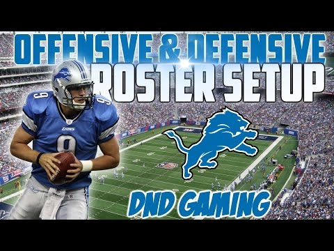 Free Madden 16 Tips : Detroit Lions Best Offensive & Defensive Depth Chart Setup | DND Gaming