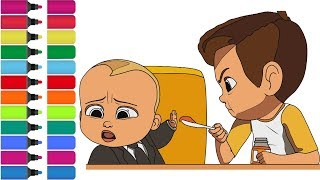 BABY BOSS feel ill   coloring Page! Fun Coloring Activity - Art for Kids
