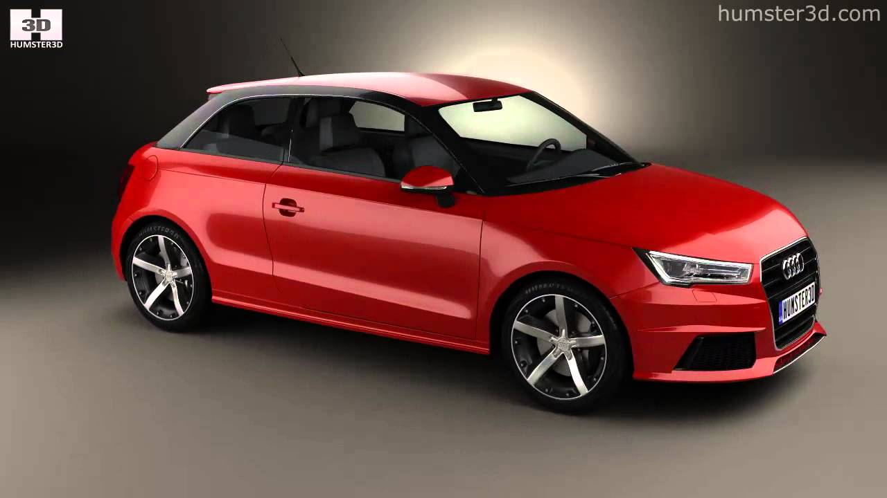 audi a1 3 door 2015 by 3d model store youtube. Black Bedroom Furniture Sets. Home Design Ideas