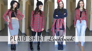 How to wear a plaid shirt | Plaid Shirt Lookbook | Look Fabulous