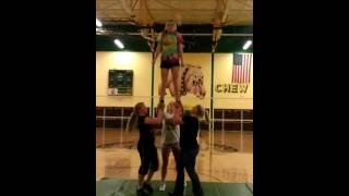 double based thigh stand to toe-touch cradle