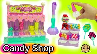 Queen Elsa and Princess Anna Shop At Beados Sweet Scoop 'N Mix Candy Shop Free HD Video