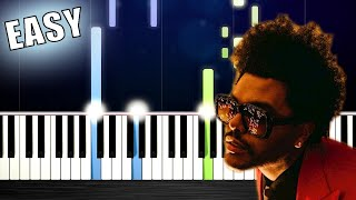 The Weeknd - Blinding Lights - EASY Piano Tutorial by PlutaX