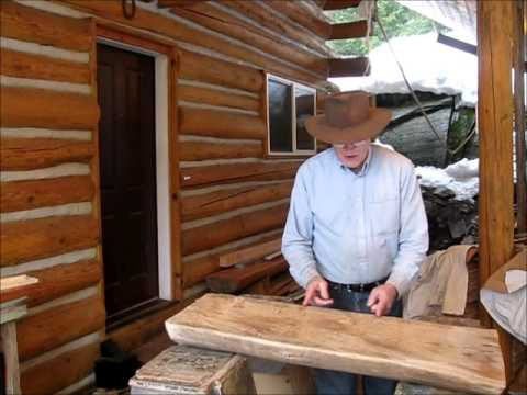 Making A Log Staircase For A Log Home