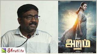 Vasanthabalan speech | Aramm Review Meet | Nayanthara, Gopi Nainar