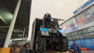 Беларус-1221.3 как отправить на Камчатку в контейнере и не повредить трактор? МТЗ-1221 с отвалом