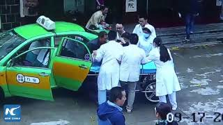 Woman gives birth in back of taxi