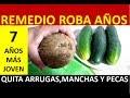 Remedio Roba Años  7 Años Menos Con Un Coco y Tres Pepinos/ Tambien Quita Manchas,Pecas y Arrugas