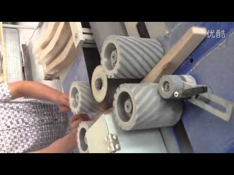 Automatic two sided Curved Sander sanding the chair CURVE