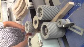 Automatic Two Sided Curved Sander Sanding The Chair Curve Sander Woodworking Machine Sanding Machine