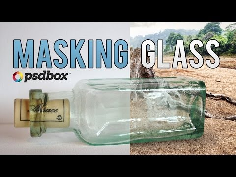 Masking Glass & Transparencies in Photoshop (PSD Box)
