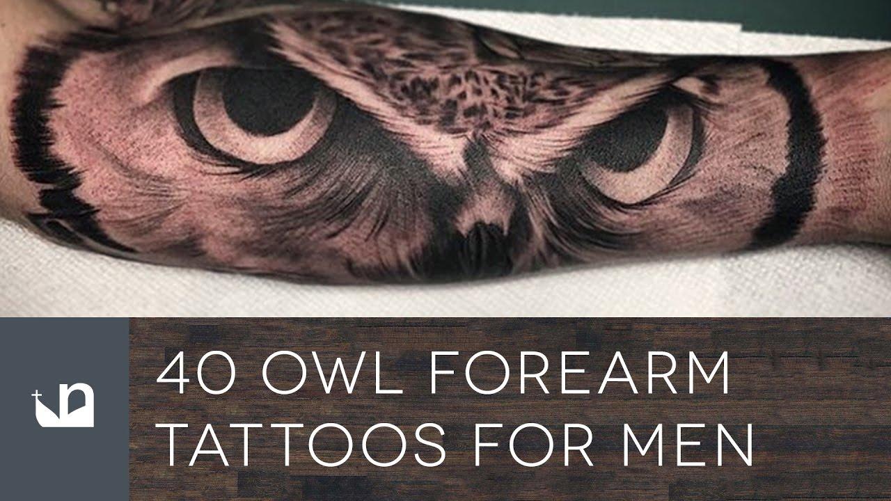 40 Owl Forearm Tattoos For Men YouTube