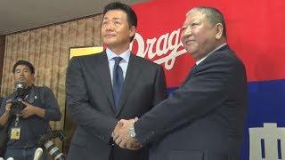 プロ野球中日は15日、球団OBの与田剛氏(52)が監督に就任したと発表した...