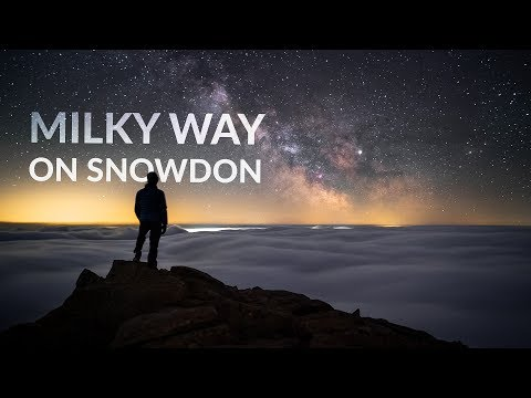 Milky Way above a Cloud Inversion on Snowdon, Wales