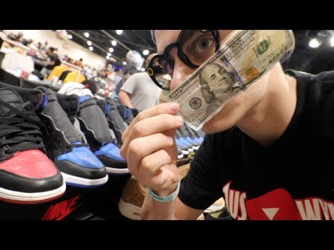 WHAT CAN $100 BUY AT SNEAKERCON??? (YOU'LL BE SURPRISED)