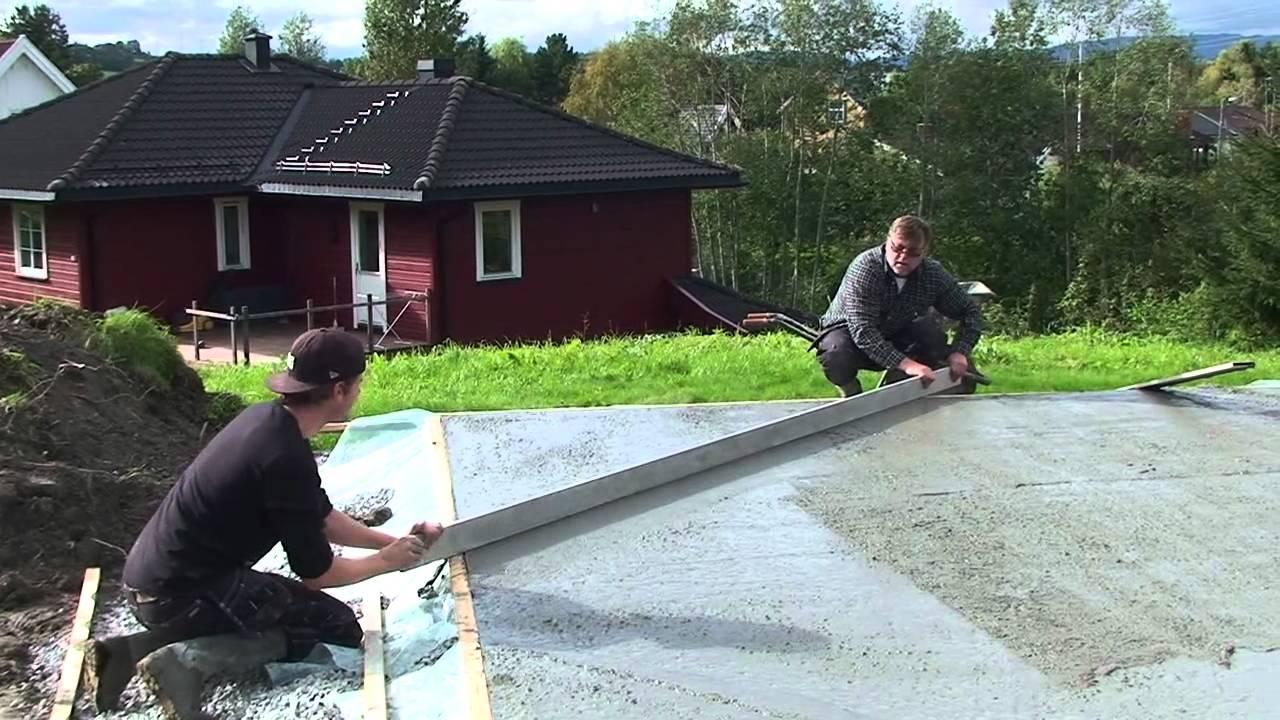 Hvordan støpe gulv ute
