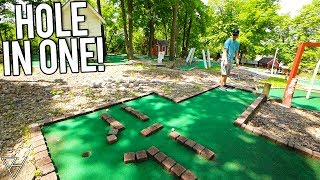 Weird and Never Before Seen Holes and A Hole In One At This Mini Golf Course!