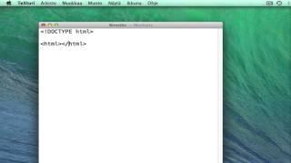 HTML5: Dokumentin luominen, perusrakenne ja tallentaminen