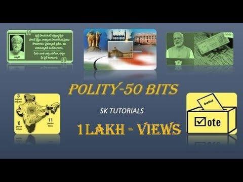 INDIAN POLITY-50 bits.Telugu.online class