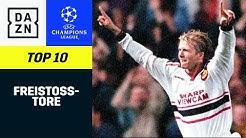 Top 10 Freistoß-Tore | UEFA Champions League | DAZN Highlights