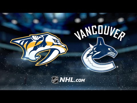 Predators score seven in rout of Canucks