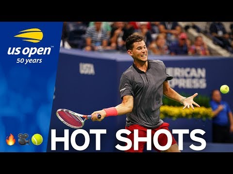 US Open Hot Shot: Dominic Thiem Ends Long Rally With Lunging Volley