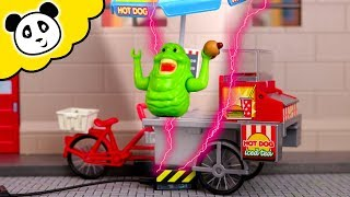 Playmobil Ghostbusters - Slimer isst ALLE Hotdogs! - Playmobil Film