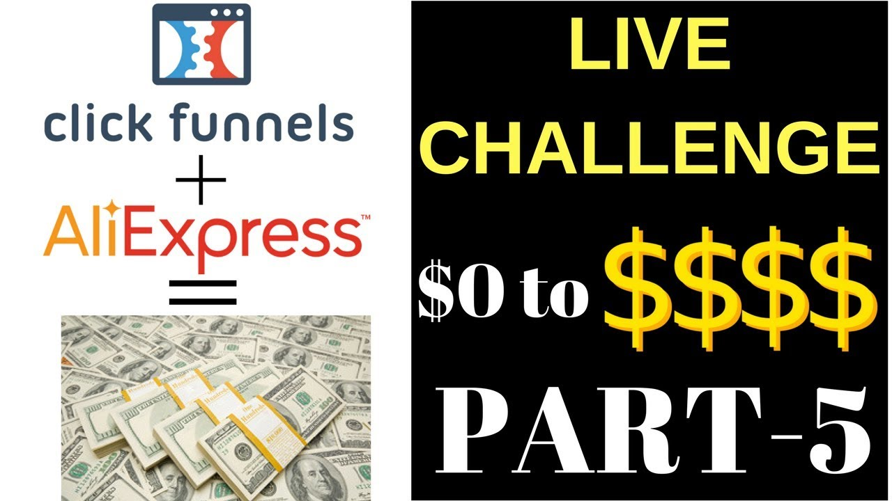 PART 5 LIVE CHALLENGE! Clickfunnels Dropshipping Tutorial! Using Influencers To Make Sales!