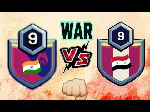 NEW WAR ATTACKS 🇮🇳INDIA VS SYRIA🇸🇾  AMAZING ATTACKS || CLASH OF CLAN WAR ATTACKS