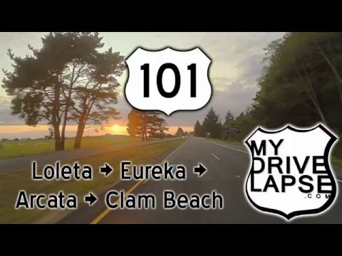 Northern California US 101: Eureka, Arcata at Sunset