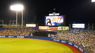 ヤクルト対阪神 24回戦 7回裏1アウトランナーなし 5回から坂口選手と交...