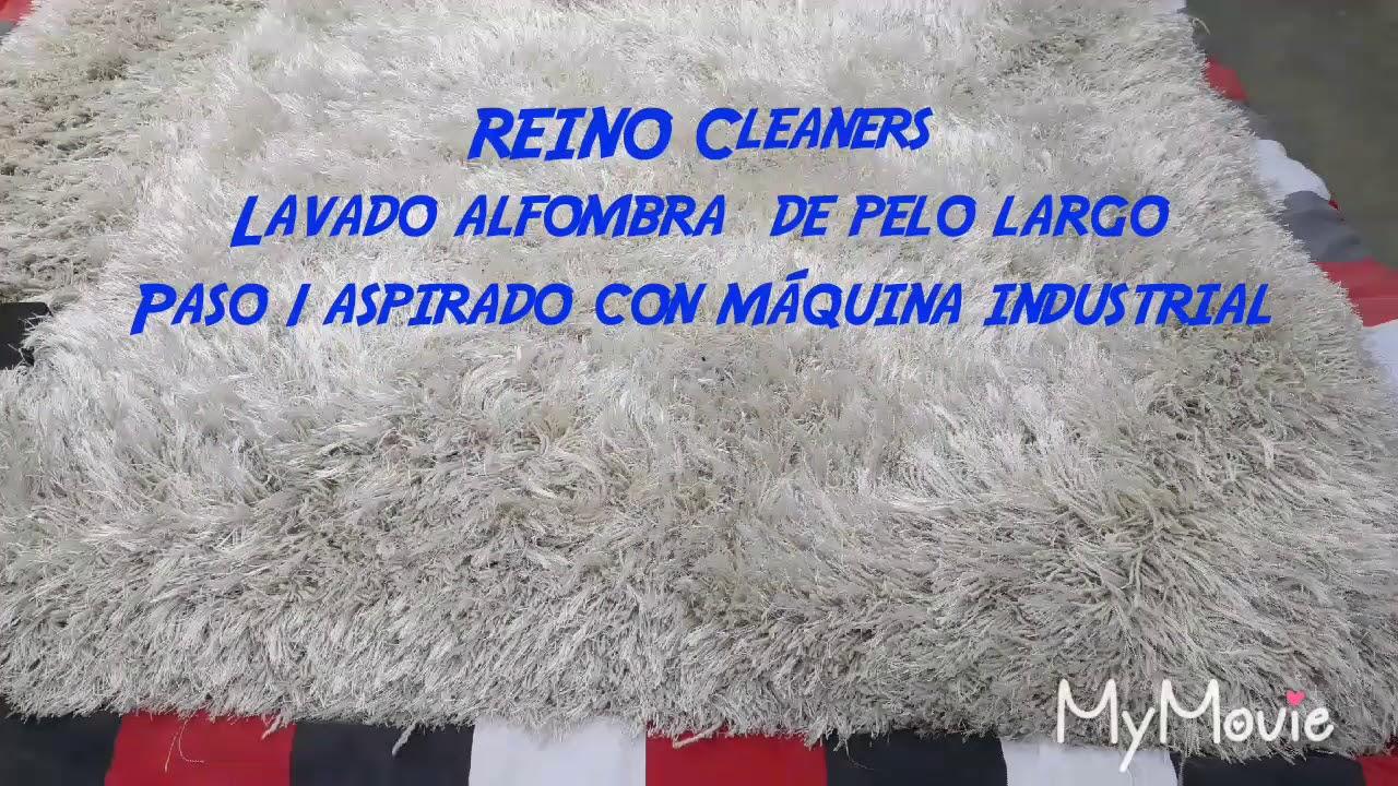 Limpieza de alfombra de pelo largo con máquinas ...