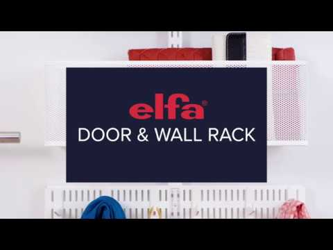 how to install an elfa door and wall rack