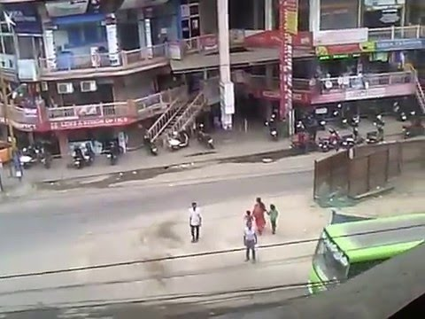 An ariel view at Noon in a Junction at Kochi City - January 2016