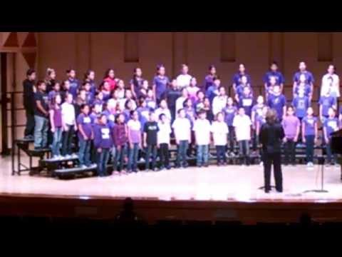 Gettysburg Elementary School singing 'Camptown Races' during Fall CUSD Elementary Choir Festival