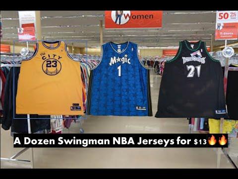 I FOUND DOZENS OF SWINGMAN NBA JERSEYS TO SELL ON EBAY! - Trip To The Thrift #1