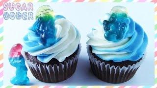 SMURF CUPCAKES CAKE, DESSERT IDEAS