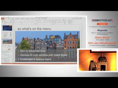 Building advanced ChatBots - Stève Sfartz - Codemotion Amsterdam 2017