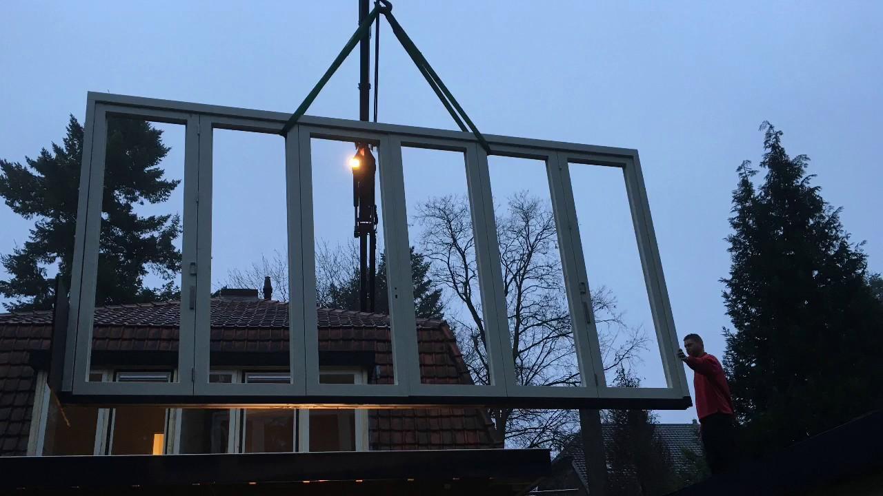 Fonkelnieuw Montage Vouw-Schuifpui te Bilthoven - YouTube CJ-91