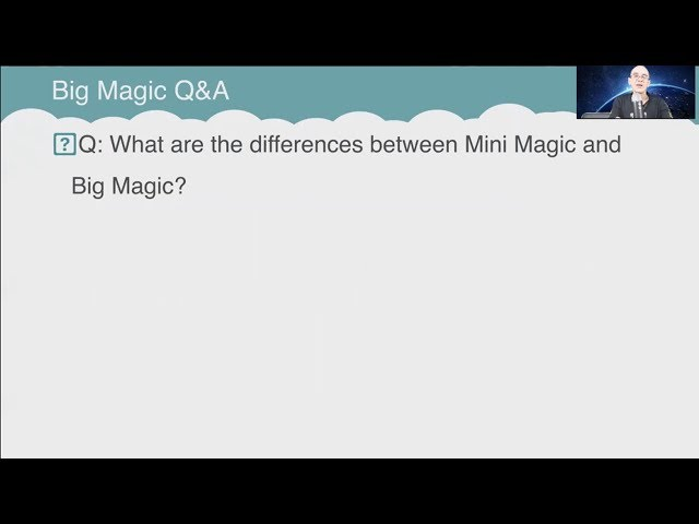 Q&A: What are the differences between Mini Magic and Big Magic?