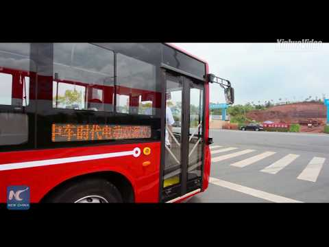 """""""World's first"""" smart electric bus starts road test in Zhuzhou, China"""